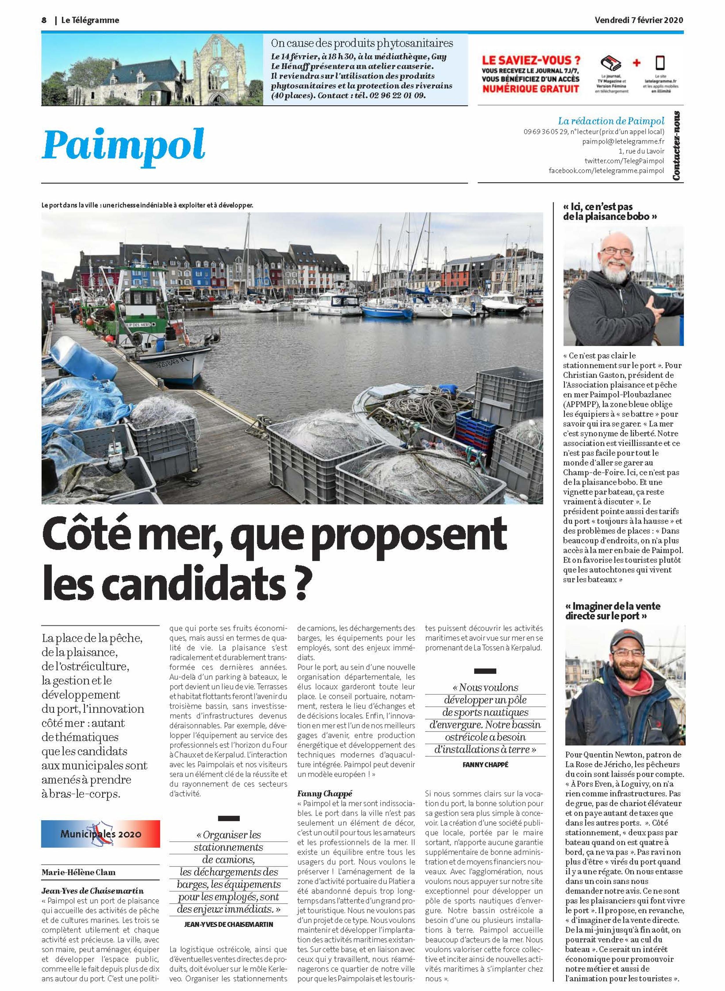 """""""Côté mer, que proposent les candidats ?"""""""