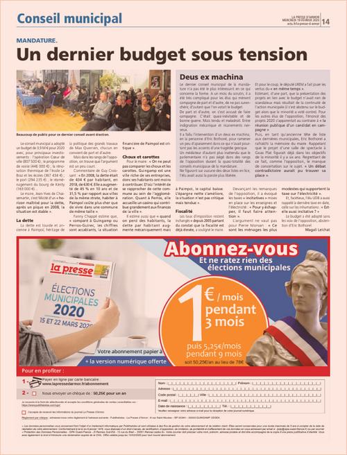 Un dernier budget sous tension