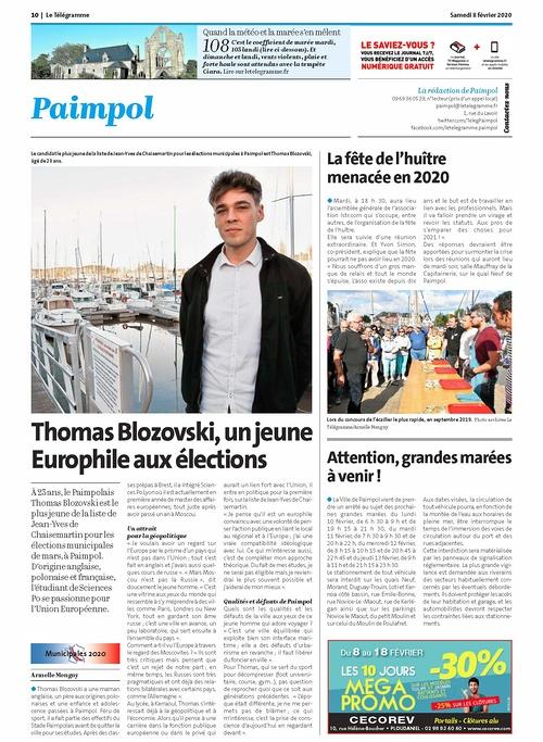 Thomas Blozovski, un jeune Europhile aux élections